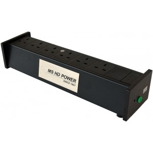 MS HD Power MS E02 SS 6 Way Filtered Mains Block