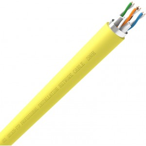 QED QX-CAT6 FTP Screened PVC Flame Retardant Yellow Data Network Cable 305m