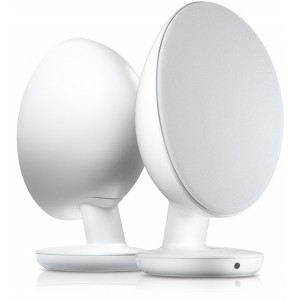 KEF Egg Wireless Bluetooth Active Speakers - Pure White