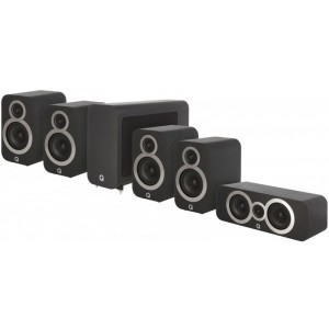 Q Acoustics 3000 Series 5.1 Cinema Pack - Black Graphite - Open Box