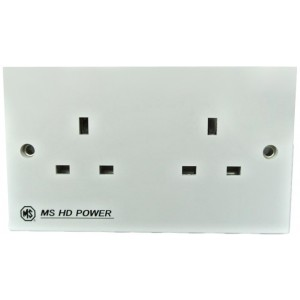 MS HD Power MS-9296G Gold UK Double Wall Socket