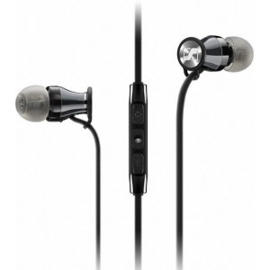 Sennheiser Momentum M2 IEi Earphones iOS Black Chrome