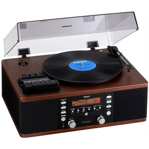 TEAC LPR500 Vinyl and Cassette System Walnut
