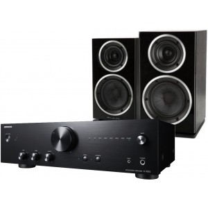Onkyo A9010 + Wharfedale Diamond 225 Black Hi-Fi System Package