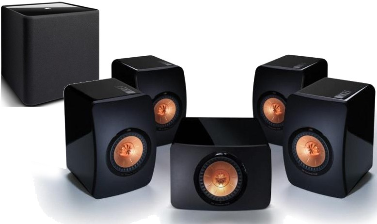 kef ls50. kef ls50 5.1 speaker package black kef ls50 f