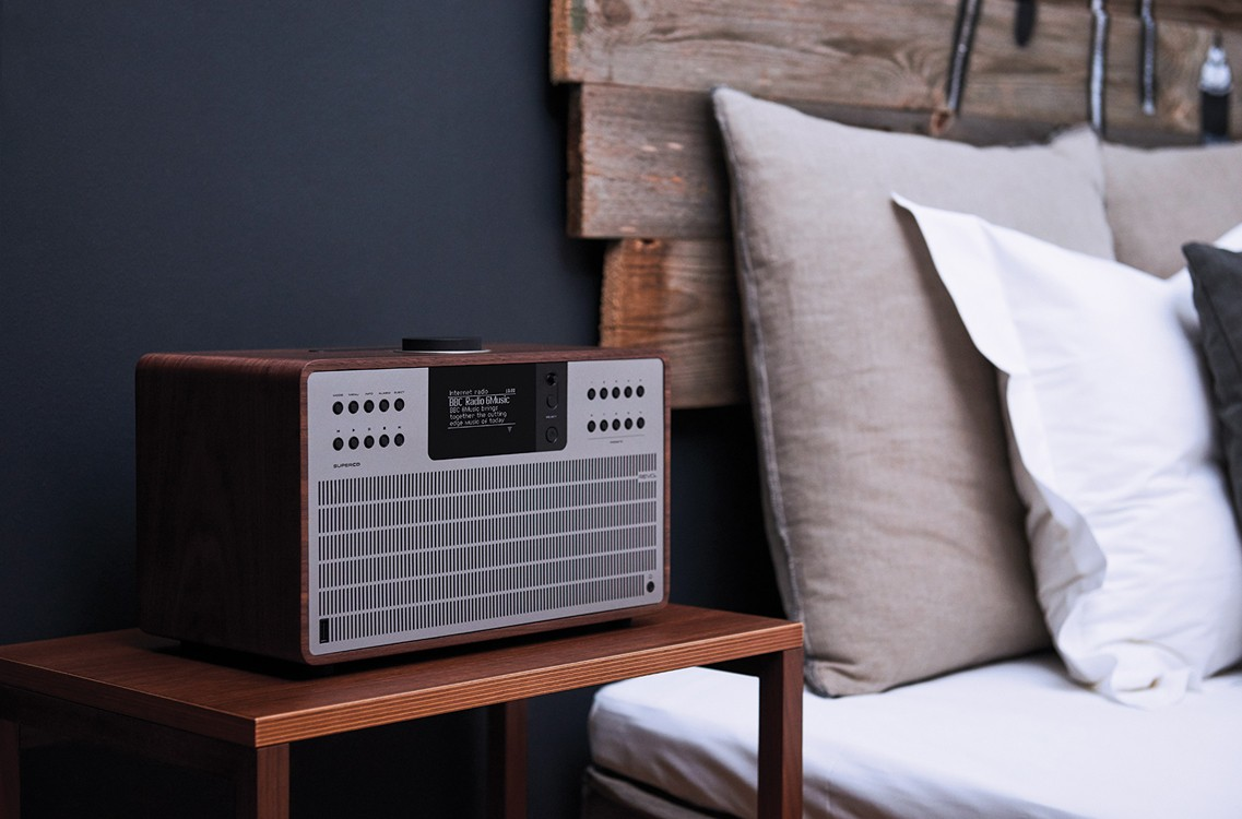 Revo SuperCD All In One Music System Lifestyle Bedroom