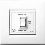 QED WM15 Wall Mount Stereo Speakers Switch (Parallel)
