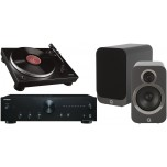 Onkyo A9010 + Audio Technica LP5 + Q Acoustics 3020i Graphite Hi-Fi System Package