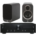 Onkyo A9010 + Q Acoustics 3010 Graphite Hi-Fi System Package