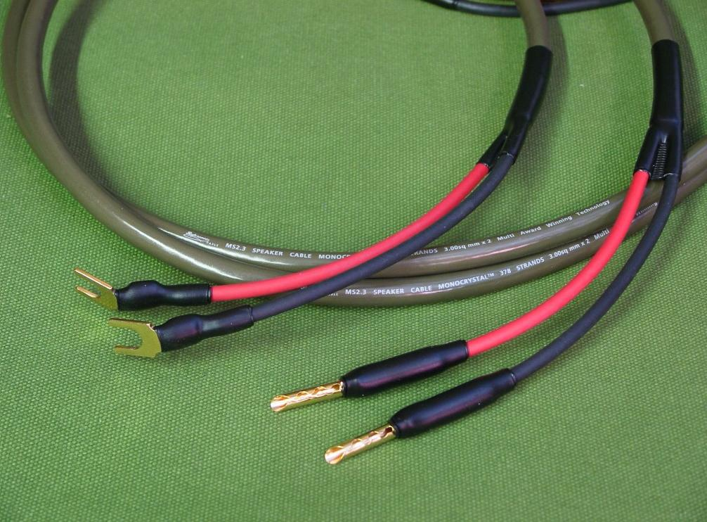 ecosse solidcore speaker cables terminated for in cables at audio affair. Black Bedroom Furniture Sets. Home Design Ideas