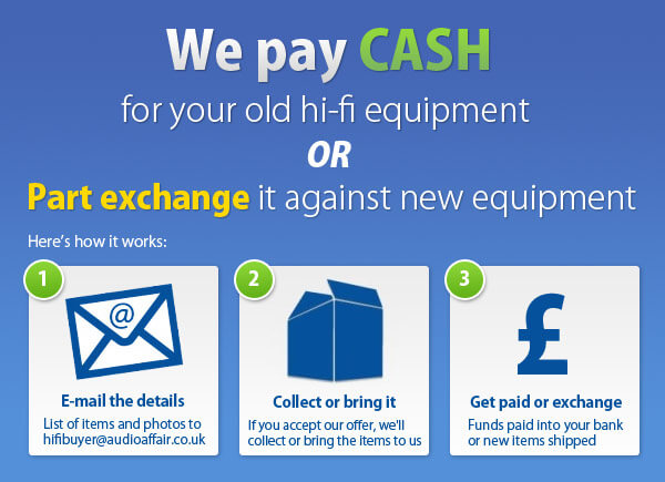 Cash for hi-fi
