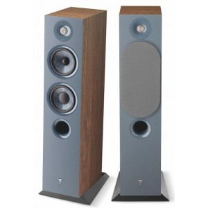 Focal Chora 816 Speakers (Pair) Dark Wood and Slate Blue Pair