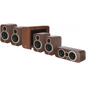 Q Acoustics 3000 Series 5.1 Cinema Pack - Walnut - Open Box