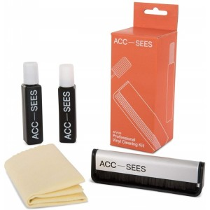 Acc-Sees Carbon Fibre Brush + Anti Static Record Cleaner Pack