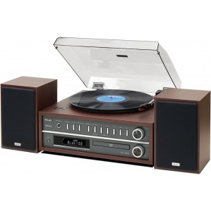 Teac MC-D800-CH All-In-One Turntable Bluetooth Speaker System Cherry