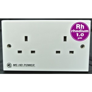 MS HD Power MS-9296Rh Rhodium UK Double Wall Socket