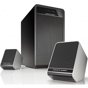 Acoustic Energy Aego 3 Active 2.1 Speakers Black White Speakers