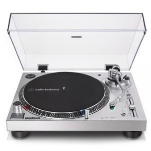 Audio Technica AT-LP120X Turntable-Silver Dust Cover