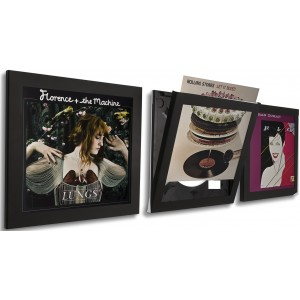 Art Vinyl Play and Display LP Frame Triple Pack Black