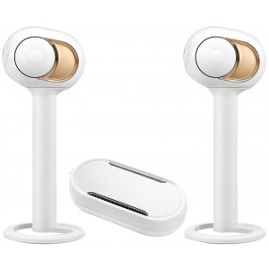 Devialet Gold Phantom Active Wireless Speaker (Pair) + Dialog + Tree Stands