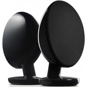 KEF Egg Wireless Bluetooth Active Speakers - Gloss Black