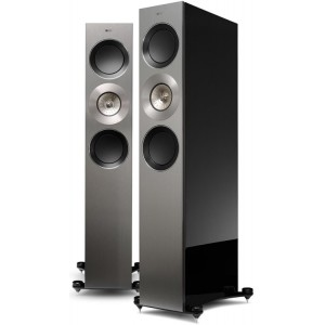 KEF Reference 3 Speakers (Pair) - Deep Piano Black - Warehouse Deal