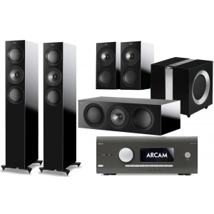 KEF R5 5.1 + Arcam AVR550 Home Cinema Package