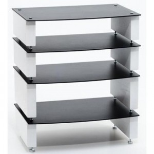 Custom Design Milan Inert 4 Shelf Hi-Fi Stand
