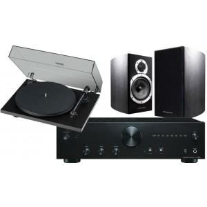 Onkyo A9110 + Wharfedale 10.1 Black + Pro-Ject Primary E Package