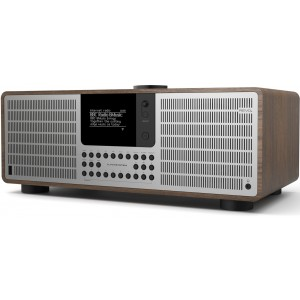 Revo SuperSystem All-In-One Music System Walnut/Silver