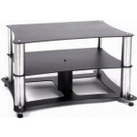 Custom Design Definitive Hi-Fi Stand (2 Shelf)-Chrome-175mm - Warehouse Deal