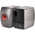 KEF LS50 Wireless Speakers (Pair) - Titanium Grey/Red - Refurbished