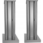 Partington Broadside Speaker Stands (Pair) Silver
