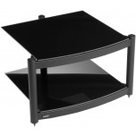 Atacama Equinox RS Hi-Fi Stand Base Black Satin Black Glass