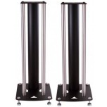 Custom Design Speaker Stands for KEF LS50 W Black Brushed Chrome