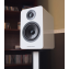 Acoustic Energy AE1 Active Speakers Piano White on stand