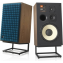 JBL L100 Classic speakers with blue grille option