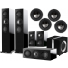 KEF R7 5.1 Speaker Package + Ci200RR for Atmos